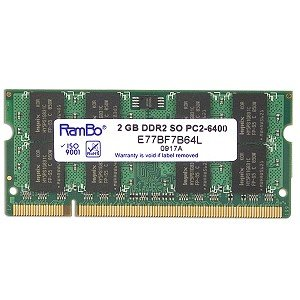 Hynix 2GB DDR2 RAM PC2-6400 200-Pin Laptop SODIMM Major/3rd