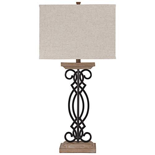Ashley Furniture Signature Design - Edalene Metal Table Lamp - Black/Brown