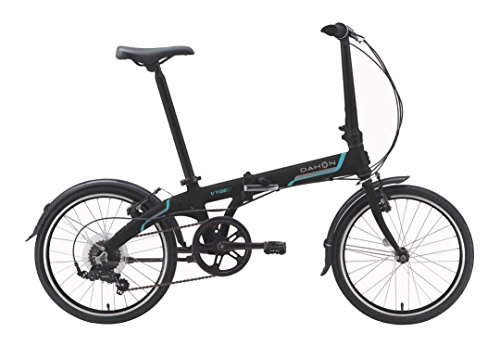 Dahon Vybe D7 Folding Bike Obsidian with Fenders by Dahon (Image #1)