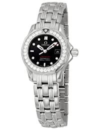 Omega Women's 212.15.28.61.51.001 Seamaster 300M Quartz Diamond Bezel Black Dial Watch