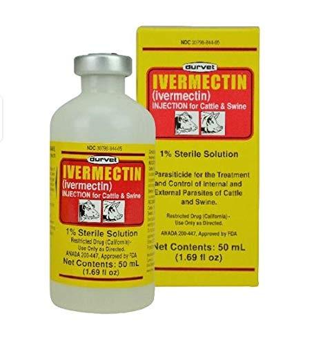 Durvet Ivermectin Injectable 50 mL 50ML    - Ivomec 1% Injection