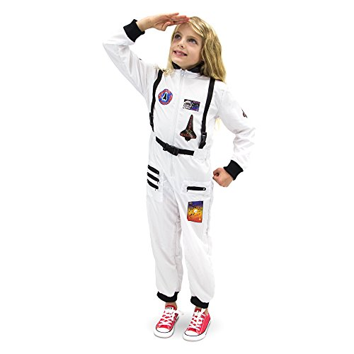 Adventuring Astronaut Children's Halloween Dress Up Theme Party Roleplay & Cosplay Costume (Youth Medium (5-6))]()
