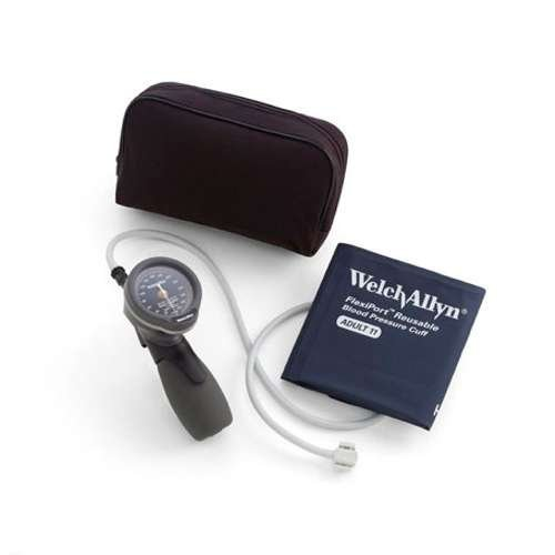 WELCH ALLYN DS66-11 Gold Series Trigger Aneroid Blood Pressure Monitor Kit DS-6601-300 With Size 11 Adult Cuff 25-34cm / 9.8in-13.4in