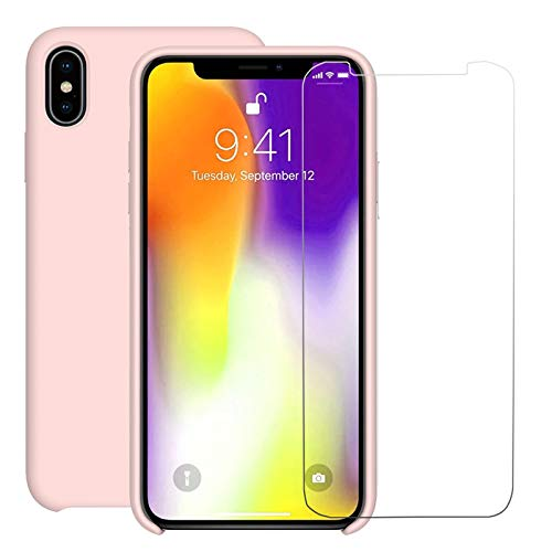online retailer bb48f 950e1 Amazon.com: Pink iPhone Xs Max Liquid Silicone Case with Free ...