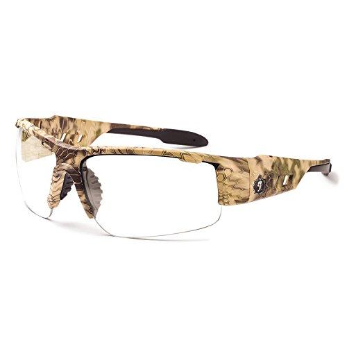 Ergodyne Skullerz Dagr Anti-Fog Safety Glasses-Kryptek Highlander Brown Camo Frame, Clear Lens