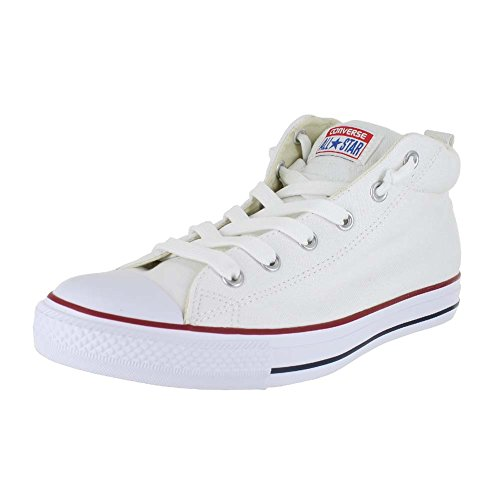 CONVERSE Unisex Chuck Taylor Street Mid Fashion Sneaker Shoe – White/Natura – Mens – 9