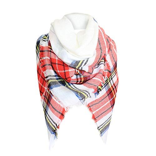 - HYIRI Comfortable Women Plaid Blanket Thick Winter Scarf Tartan Chunky Wrap Oversized Shawl Cape