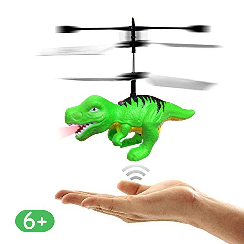 RC Flying Ball Dragon Dinosaurs Toys Gifts for 6 Year Old Boys Girls Kids, Mini Remote and Hand Controlled Dinosaurs Helicopter for Birthday Holiday Xmas Gifts