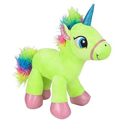 Sparkling Green Rainbow Unicorn Plush Stuffed Animal Toy