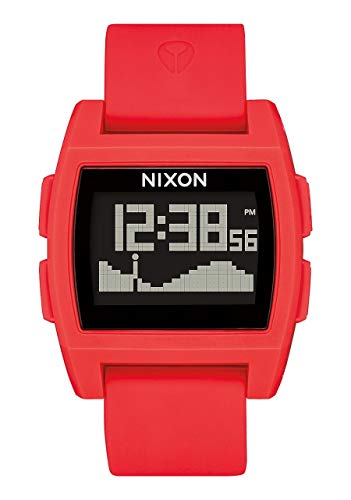 NIXON Base Tide A1109 - Red - 105M Water Resistant Men's Digital Surf Watch (38 mm Watch Face, 27 mm Pu/Rubber/Silicone Band)