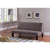 Kings Brand Furniture Modern Fabric Klik Klak Futon Bed Sleeper Sofa with Adjustable Back, Beige