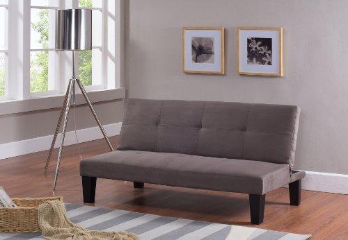 Kings Brand Furniture Modern Fabric Klik Klak Futon Bed Sleeper Sofa with Adjustable Back, Beige