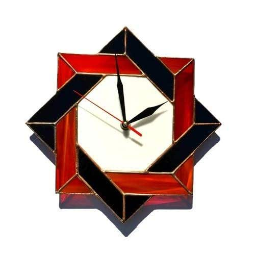 home wall of.htm amazon com zangerglass modern celtic stained glass wall clock red  modern celtic stained glass wall clock