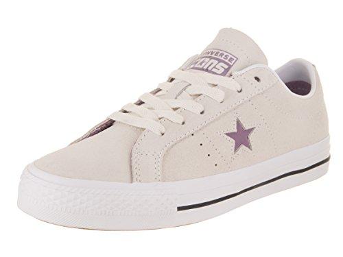 Image of Converse Unisex One Star Pro Ox Egret/Violet Dust/White Skate Shoe 5.5 Men US / 7 Women US