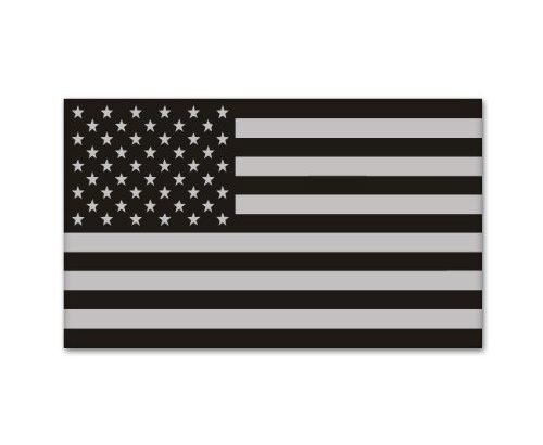 Pair Stealthy American Flag Hard Hat Stickers / Decals / Labels Black Ops Tool Lunch Box Helmet Patriotic Old Glory