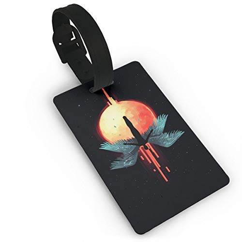 Mars Sight Angel Falling Travel ID Label for Bag with Strap,Luggage Tag Travel Baggage Tags