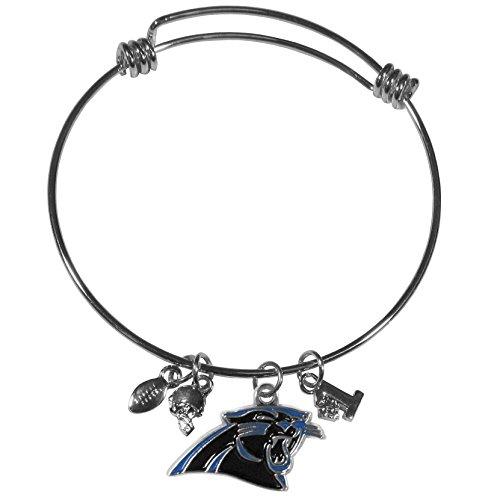 Siskiyou NFL Carolina Panthers Charm Bangle Bracelet ()