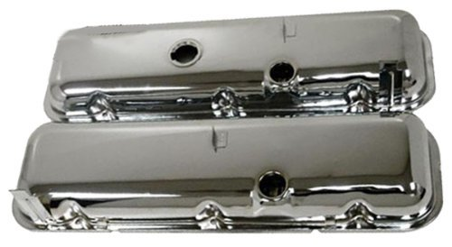 Bb Chevy Short - 1965-72 Compatible/Replacement for Chevy Big Block 396-427-454 Short OEM Style Steel Valve Covers - Chrome