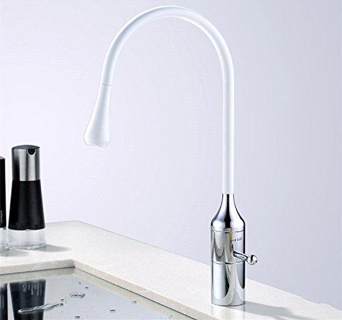 ANNTYE Waschtischarmatur Bad Mischbatterie Badarmatur Waschbecken Messing mit 360° drehbarem Warmes und kaltes Wasser der Einhebelsteuerung Badezimmer Waschtischmischer