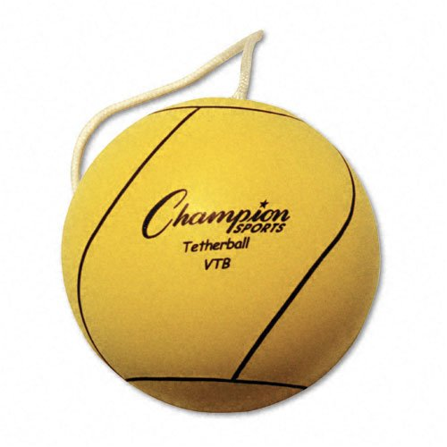 Champion Sports : Tether Ball, Rubber/Nylon, Optic Yellow -:- Sold as 2 Packs of - 1 - / - Total of 2 Each by Champion Sports