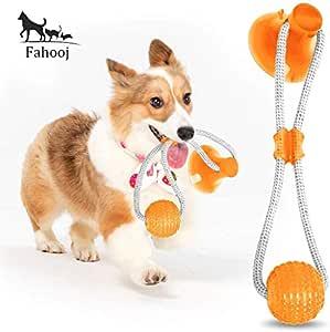FAHOOJ - Juguete para Perros con Cuerda elástica y Ventosa ...