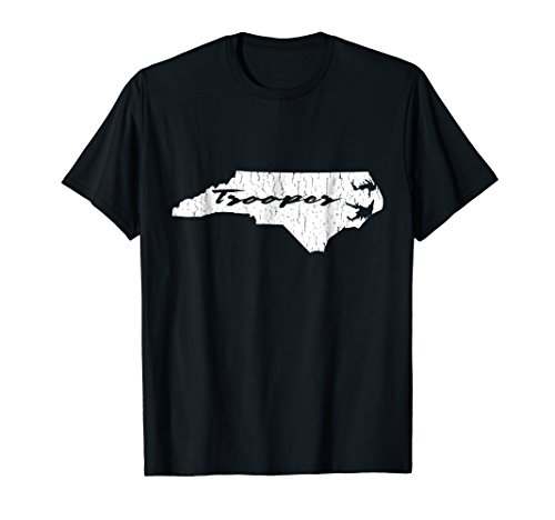 North Carolina State Trooper Distressed Graphic (Trooper Beer T Shirt)
