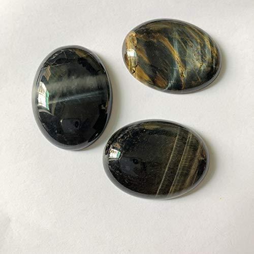 (Calvas AA Quality Natural Blue Tiger Eye Cabochons Oval 30x40mm CAB Semi Precious Stone Jewelry Cabochon Ring Face 1pcs/lot)