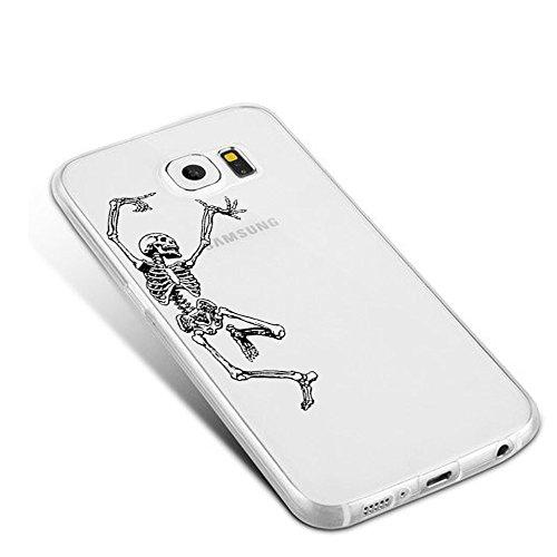 Caler Funda Galaxy S7, Carcasa Galaxy S7 Suave TPU Gel Silicona Ultra-Delgado Case Ligera Anti-Rasguños Anti-Huella Protección Animal Funda Para Cubierta Samsung Galaxy S7 Esqueleto