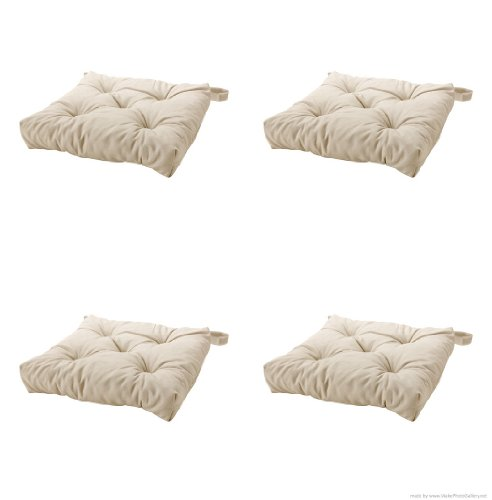 Ikeas MALINDA Chair cushion, light beige-4 Pack