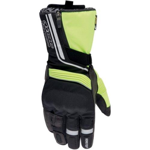Alpinestars Jet Road Gore-Tex Men's Leather/Textile Street Motorcycle Gloves - Black/Yellow / Medium