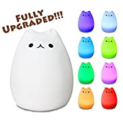 X-CHENG night light - 3-Modes Portable Silicone LED Night Lamp - 8 single colors mode and 8-color breathing light mode - adorable animals' appearance - USB charging - best nightlight for children.
