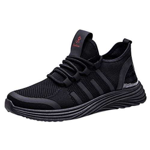 ANJUNIE Men's Leisure Breathable Lace Up Sports Running Sneakers Walking Shoes