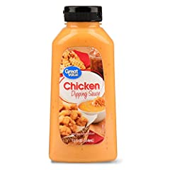 This delicious dipping sauce is perfect for dipping your chicken tenders, chicken nuggets, fries and more. Great Value Restaurant Style Chicken dipping Sauce will be a great addition to your next picnic or barbecue.