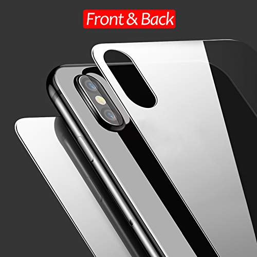 JingooBon Front and Back Screen Protector Compatible with iPhone Xs / iPhone X [2-Pack], Tempered Glass [3D Touch] Front and Rear Anti-Fingerprint/Scratch Compatible with iPhoneXs / iPhoneX (5.8 inch) (Iphone 5 Cases Front And Back Protection)
