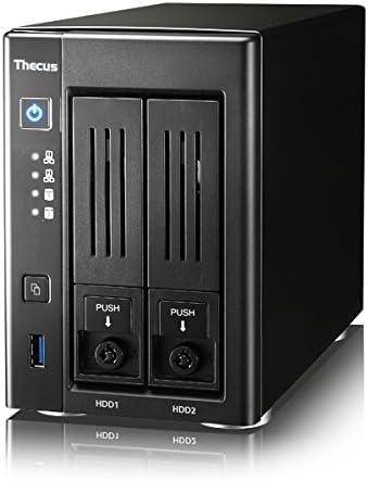 Thecus N2810PRO Servidor de Almacenamiento Ethernet Torre Negro NAS - Unidad Raid (Unidad de Disco Duro, SSD, Serial ATA II, Serial ATA III, 0, 1, JBOD, 1,6 GHz, Intel® Celeron®, 4 GB): Amazon.es: Informática