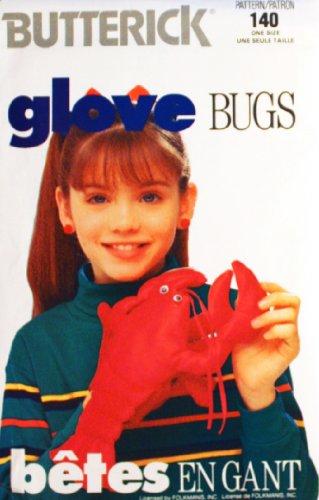 OOP Butterick Crafts Pattern 4977. Lobster Glove Bug.