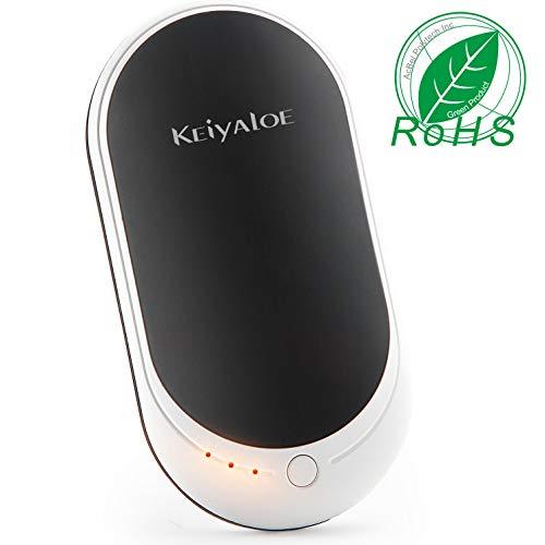 Keiyaloe Hand Warmers 5200mAh Electric Hand Warmer, Rechargeable Hand Warmer and Power Bank for Skiing, Climbing, Hiking, Winter Gift Giving