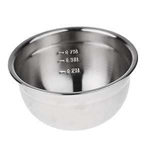 Sharplace Tazón de Acero Inoxidable Utensilio de Cocina para Hacer Tortas Masa de Pan Salsas - 17.5cm