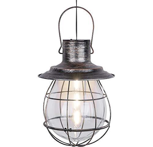Flickering Lantern Halloween Decoration, Porch Light, Iron and