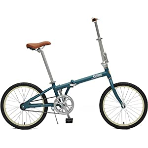 Critical Cycles 2642 Judd Folding Bike Single Speed with Coaster Brake, Matte Teal, 26cm/One Size