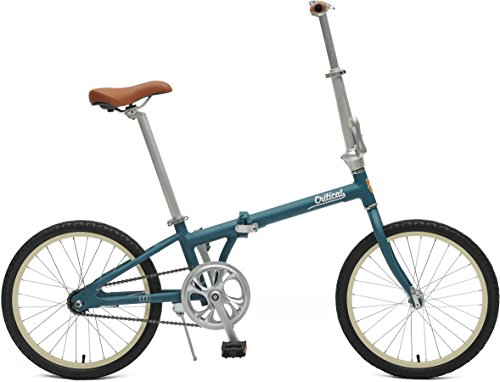 Critical Cycles 2642 Judd Folding Bike Single-Speed With Coaster Brake, Matte Teal, 26cm/One Size