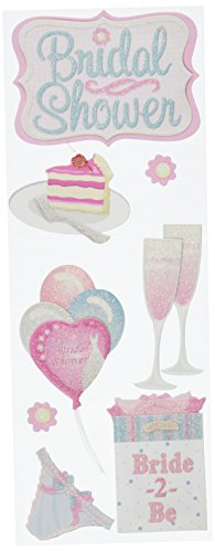 Jolee's Boutique Dimensional Stickers, Bridal Shower