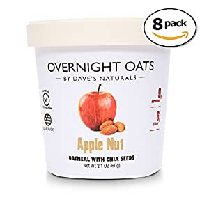 Dave's Naturals Overnight Oats Apple Nut (Pack of 8)