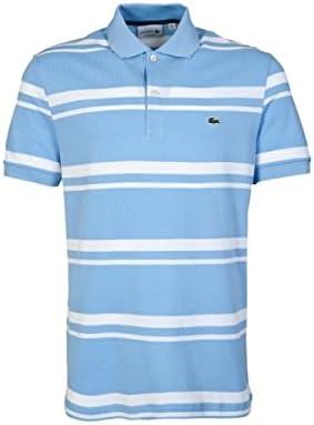 Lacoste – Polo para Hombre, diseño de Rayas Blancas y Azules Top ...