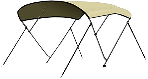 Leader Accessories 13 Colors 3 Bow Bimini Top Boat Cover 4 Straps for Front and Rear Includes...
