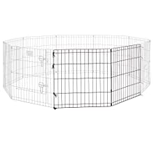 Universal Pet Playpen 2-Panel Extension Kit | Fits Metal 24-Inch Dog Pens | Kit Measures 24H x 47.50W Inches| Includes 4 Thumb Snaps, 2 Ground Stakes