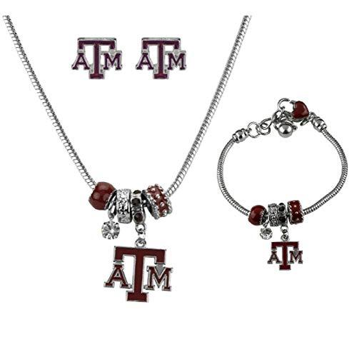 - SANDOL Texas A&M Aggies MVP Jewelry Combo (Bracelet, Necklace, Stud Earrings)