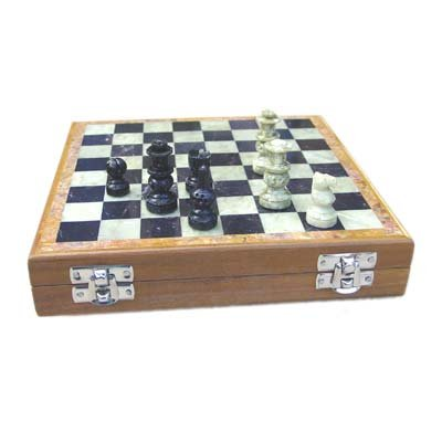 8×8 Inch Marble Chess Set Hand Carved Gorara Stone Pieces Play & Gifts New by craftslook