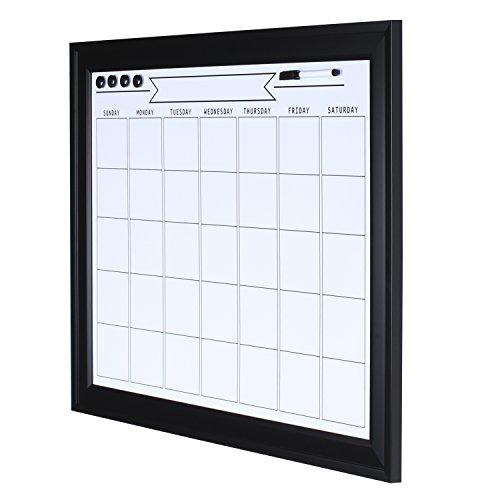 Monthly Calendar Board : Designovation bosc framed magnetic dry erase