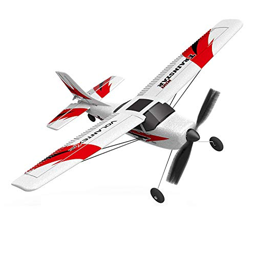 VOLANTEXRC RC Airplane TrainStar Mini Plug and Play No Controller No Battery Remote Control Plane with 6-Axis Gyro Stabilizer Easy to Fly for Beginners (761-1 PNP)
